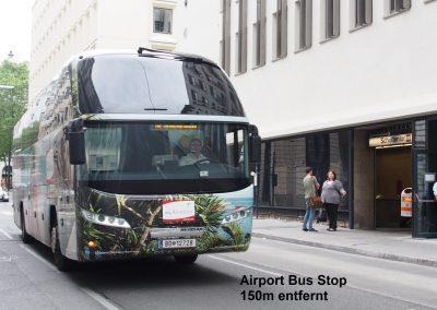 Airport Busstop 150m entfernt