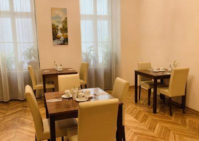 Frühstücksraum/Pension Liechtenstein